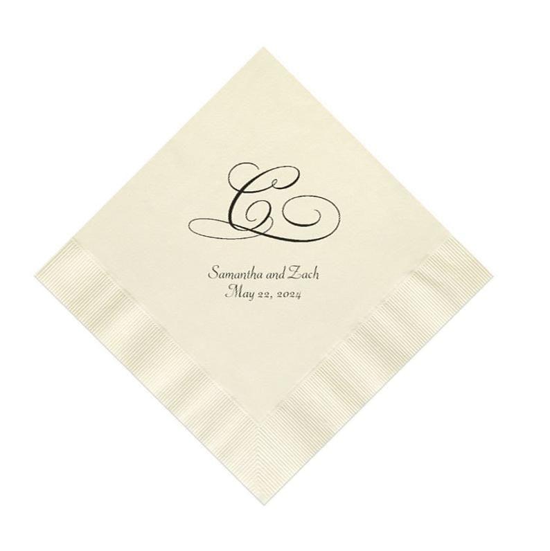 wedding monogram napkins